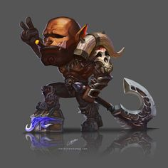 Garrosh - World Of Warcraft Game Character Design, Character Art, Character Ideas, Warcraft Dota, World Of Warcraft 3, Death Knight, Heroes Of The Storm, Dark Pictures, Geek Games