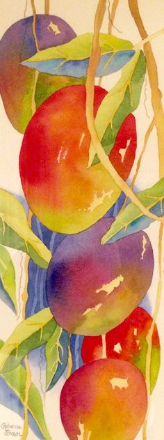 MORE MANGOES 8 x 20 by Rebecca Brown...SOLD!