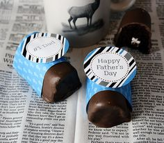 Fathers Day Chocolate Ho Ho Recipe and Free Printables designed by Amy Locurto at LivingLocurto.com