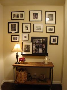 Family gallery wall Displaying Family Pictures, Gallery Wall, New Homes, House Ideas, Frame, Home Decor, Picture Frame, Decoration Home, Room Decor