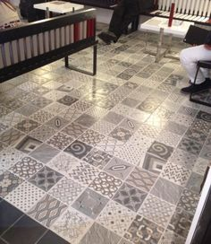 1000 images about carrelage aspect carreaux ciment on pinterest cuisine o - Carreaux ciment patchwork ...