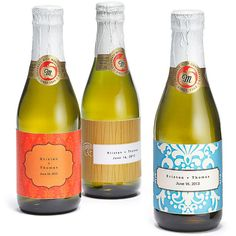 Sparkling Cider Mini Bottles as invites with the info for how to get the secret word to get in.
