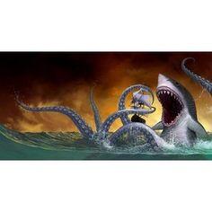 Sharktopus vs. Pteracuda (2014) Movie Review   Pinterest   Words ...