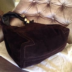 Jimmy Choo Bags - Jimmy Choo Hobo chocolate suede handbag