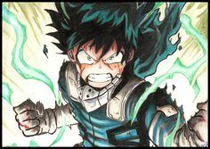 Izuku Midoriya :) Real talent is known; Anime Sketch, Boku No Hero Academia, Art, Art Background, Kunst, Performing Arts