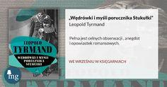 """""""Wędrówki i myśli porucznika Stukułki"""" Leopold Tyrmand, Wydawnictwo MG"""
