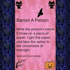 Banish a person.