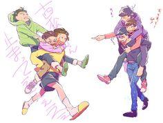 埋め込み画像 How To Draw Sans, Osomatsu San Doujinshi, Happy Tree Friends, Ichimatsu, Anime Figures, Manga, Me Me Me Anime, Poses, Brother