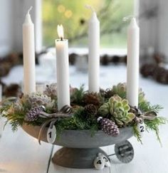 Aventslys is four candles.one is lit every week starting on the first Sunday of… – Advent Wreath İdeas. Advent Candles, Christmas Candles, Noel Christmas, Winter Christmas, All Things Christmas, Xmas, Classy Christmas, Cottage Christmas, Natural Christmas