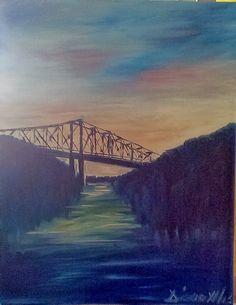 Crossing a bridge My Passion, Bridge, My Arts, Painting, My Crush, Bridge Pattern, Painting Art, Paintings, Legs