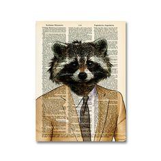 Well-Suited Raccoon Print  by Matt Dinniman
