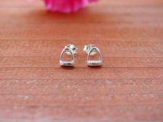Tiny Stirrup Horse Stud EarringsEquestrian by nongbuadang on Etsy
