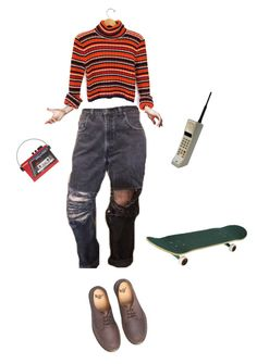 """""""left it back in"""" by melsuds ❤ liked on Polyvore featuring Dr. Martens and Sarah's Bag"""