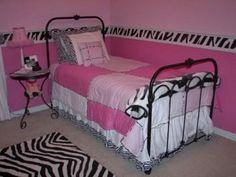 DIY Zebra room for girls room