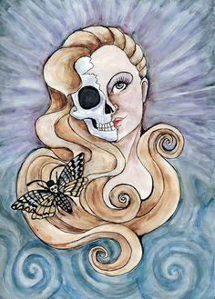Hel goddess of the underworld. by BostinButterfly on deviantART
