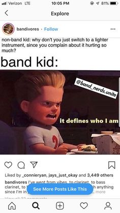 memesYou can find Band nerd and more on our website. Funny Band Memes, Funny Jokes, Hilarious, Music Jokes, Music Humor, Funny Music, Band Nerd, Marching Band Jokes, Band Problems