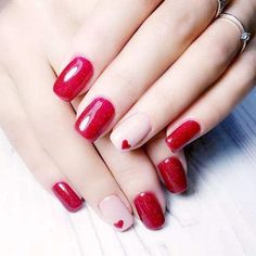 Red means sexy and more feminine while black means mystery and cool. When red encounters. Cute Acrylic Nail Designs, Nail Designs Pictures, Black Nail Designs, Cute Acrylic Nails, Nail Art Designs, Neutral Nails, Nude Nails, Diy Nails, Swag Nails