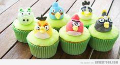 cupcake Angry Birds decoración fiesta evento infantil cumpleaños y comunión - kids children birthday communion party decoration miraquechulo