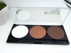 O Manizer irmãs 3 cor pó compacto destaque brilho quente marca batom maquiagem Bronzer pó facial paleta alishoppbrasil
