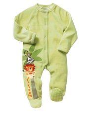 Pyjama velours imprimé safari bébé garçon  - vertbaudet enfant