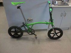 Brompton on Skyway Tuffs Folding Bicycle, Bicycle Pedals, Touring Bike, Brompton, Wheeling, Bike Style, New Hobbies, Mini, Bicycle Rack