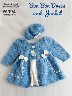PA994-R Bon Bon Dress and Jacket Set Crochet Pattern by Maggie Weldon. $8.01. 17 pages. Publisher: Maggie's Crochet (February 17, 2013)