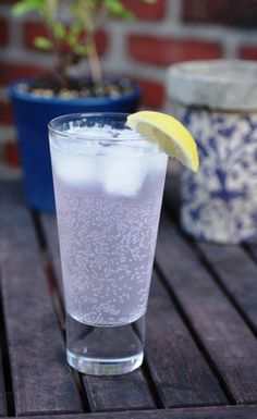 Lavender and Lemon Soda! Pretty colour and light flavour for gatherings.