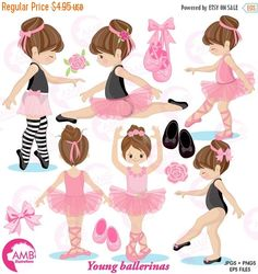 80%OFF Ballerina clipart Ballet clipart pink by AMBillustrations