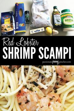 Red Lobster Shrimp Scampi - - Note from Laurie ~ Shannon made this recipe and it looks delicious! I *love* being able to save by making restaurant-type meals at home, so this one's definitely a winner. Publix had. Red Lobster Shrimp Scampi Recipe, Garlic Shrimp Scampi, Easy Shrimp Scampi, Shrimp Scampi Recipes, Shrimp Scampi Without Wine, Garlic Butter Shrimp Pasta, Shrimp Linguine, Linguine Recipes, Copycat Recipes