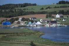 Picture of the old fishing village French River on Prince Edward Island in Canada