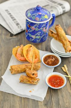 Penang Loh Bak / Beancurd Roll ~ deep fried mince chicken rolled in beancurd sheets