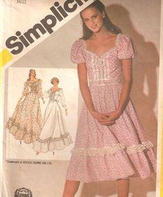 Vintage 1980s Women's Gunne Sax Dress Sewing Pattern by raegirl, $2.99