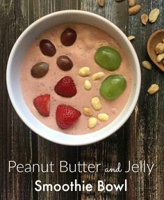 Peanut Butter and Jelly Smoothie Bowl + The Smoothie Bowl Coloring ...