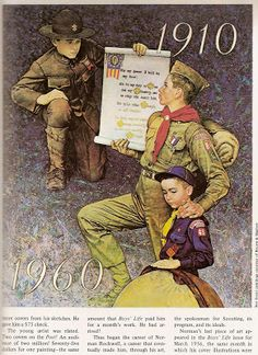 Norman Rockwell Boy Scouts by Norman Rockwell Norman Rockwell Art, Norman Rockwell Paintings, Cub Scouts, Girl Scouts, Boys Life, Eagle Scout, American Artists, New York, Illustrators