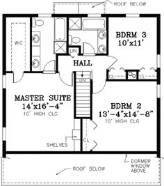 Cape Cod Addition Thoughts   Upstairs Floor Plan With Perpendicular Central  Stairs