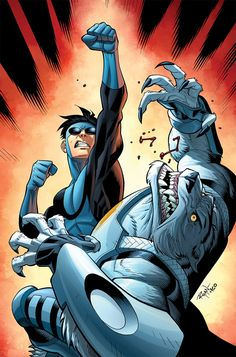 Invincible 57 cover, Pencil and Ink by Ryan Ottley, Color by Fco Plascencia