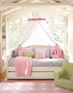 Gorgeous idea for my daughters day bed