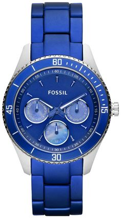 #Fossil #Watch , Fossil Stella Aluminum and Stainless Steel Watch Blue...$89.95