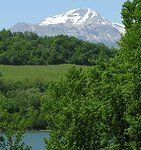 Lakes and Mountains of the Sibillini National Park in the Marche region of Italy