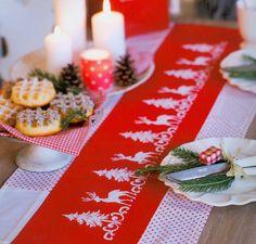 Reindeer border free cross stitch pattern (photo)