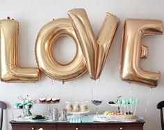 FREE SHIPPING bruiloft Decor liefde ballonnen door ButtercupBlossom