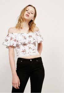 aspro crop top volan