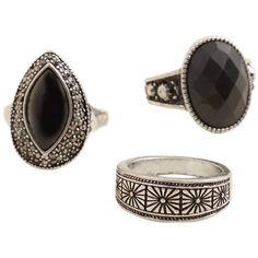 MANGO Boho Rings Set ($20) ❤ liked on Polyvore featuring jewelry, rings, bohemian jewelry, mango jewelry, metal jewelry, boho jewellery and bohemian style jewelry