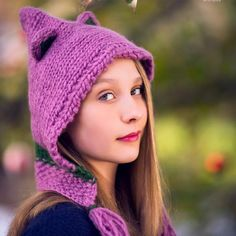 Darn Good Yarn Forest Friends Knit Hat Kit two skeins of yarn, knitting needles, printed pattern yak wool Hand wash; Knitting Kits, Knitting Blogs, Knitting Patterns Free, Hand Knitting, Knitting Needles, Different Hat Styles, Knitted Hats, Crochet Hats, Forest Friends