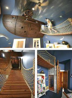 Un barco en la habitación de los chicos