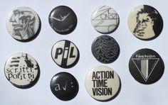 Post Punk Badges - Gold Mine Trash