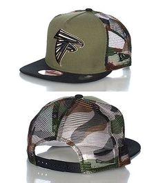 f40dc380bca NEW ERA ATLANTA FALCONS camo football snapback cap Adjustable strap on back of  hat for comfort Embro.