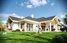 Zdjęcie projektu Rozłożysty WAH1552 Construction, Facade House, Model Homes, Home Fashion, House Plans, Villa, House Design, How To Plan, Mansions