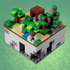 Lego Minecraft!  This was inevitable when you think about it. Lego Minecraft, Lego Moc, Creative Gifts, Minecraft Birthday Party, Video Games, Geek Stuff, Kid Stuff, Lego Boards, Nerd