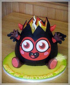 Moshi Monster Cake - Diavlo 3d Cakes, Cupcake Cakes, First Birthday Parties, First Birthdays, Monster Board, Moshi Monsters, Sweets Cake, Dream Cake, Fashion Cakes